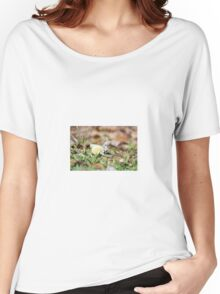 yellow & white  Women's Relaxed Fit T-Shirt