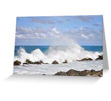 summer waves Greeting Card