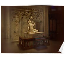 The Pieta at St. Patricks Cathedral N.Y.C. Poster