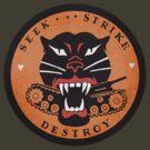 Seek Strike Destroy Tank Destroyer Emblem by LibertyManiacs