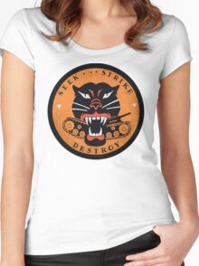 Seek Strike Destroy Tank Destroyer Emblem Women's Fitted Scoop T-Shirt