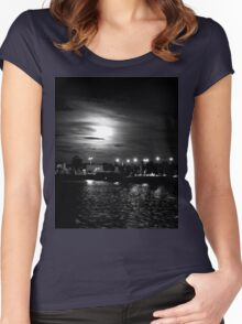 Night Of Shadows  Women's Fitted Scoop T-Shirt