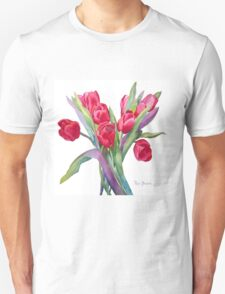 Springtime Red Tulips! T-Shirt