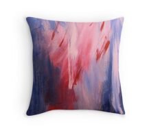 Blue and Pink Collision Throw Pillow