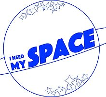 I NEED MY SPACE white/blue by ilsera