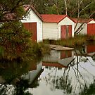 Anglesea Boat Sheds,Great Ocean Road by Joe Mortelliti