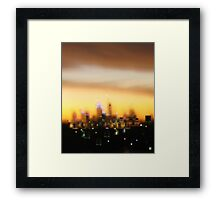 City in evening dress - City sunset, Perth Framed Print