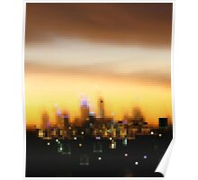 City in evening dress - City sunset, Perth Poster