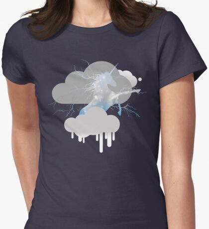The Unicorn Thunderbeing - Sky Blue Womens Fitted T-Shirt