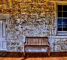 A door a window and a bench by KeepsakesPhotography Michael Rowley
