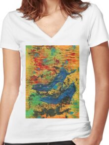 My Blue Shoes Women's Fitted V-Neck T-Shirt
