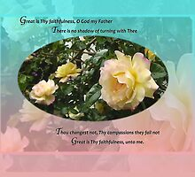 Great is Thy Faithfulness O God My Father Medium Poster by bronspst