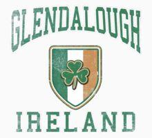 Glendalough, Ireland with Shamrock One Piece - Short Sleeve
