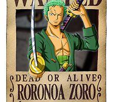 Roronoa Zoro wanted. 120 mil New worl by Dan C