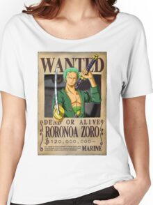 Roronoa Zoro wanted. 120 mil New worl Women's Relaxed Fit T-Shirt