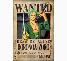 Roronoa Zoro wanted. 120 mil New worl Unisex T-Shirt