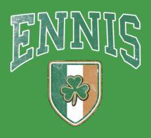 Ennis, Ireland with Shamrock One Piece - Short Sleeve