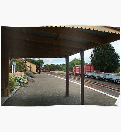 Historic Drysdale Railway Station,Bellarine Peninsula Poster