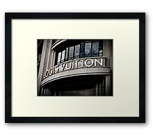 Heaven is a brand called Louis Vuitton Framed Print