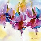 Fuchsia Watercolor II by Pat Yager