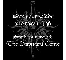 Dragon Age - Bare your Blade Photographic Print