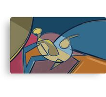 Geometric turtle Canvas Print