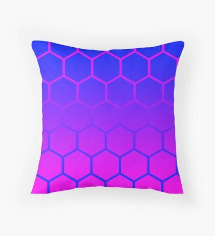 Hipster Post-Modern Honeycomb Throw Pillow