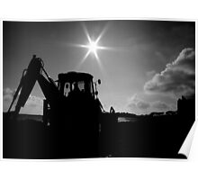 Digger in Monochrome Poster