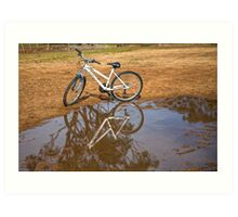 Reflection of  Mountain Bike.... Art Print