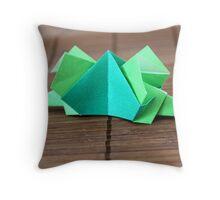 Origami Dinosaur Throw Pillow