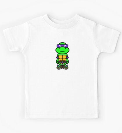 Purple Renaissance Turtle Kids Tee