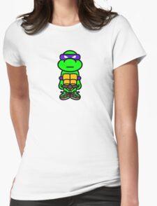 Purple Renaissance Turtle Womens Fitted T-Shirt
