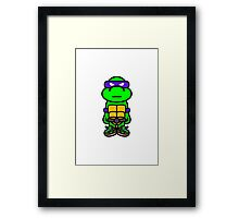 Purple Renaissance Turtle Framed Print