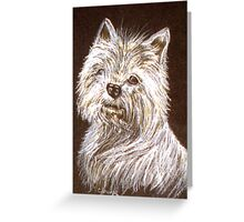 Scottie Dog Card Greeting Card