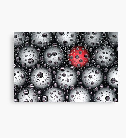 With a red dot Canvas Print
