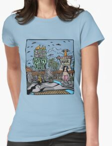 Island Motel Womens Fitted T-Shirt