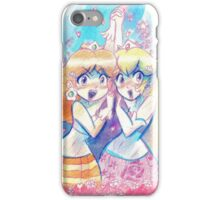 Peach and Daisy Watercolor iPhone Case/Skin
