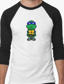 Blue Renaissance Turtle Men's Baseball ¾ T-Shirt