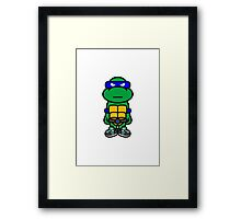 Blue Renaissance Turtle Framed Print