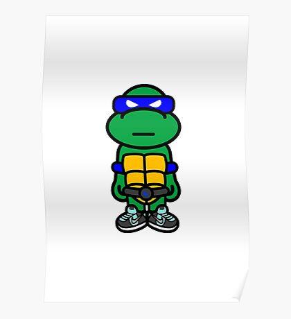 Blue Renaissance Turtle Poster