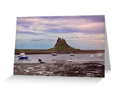 Boats At Low Tide Greeting Card