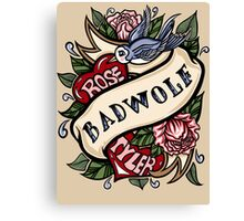 BadWolf Tattoo Canvas Print
