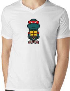 Red Renaissance Turtle Mens V-Neck T-Shirt