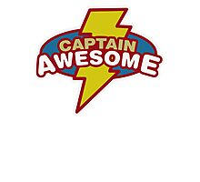Captain Awesome Funny cool  Photographic Print