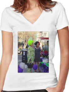 A Sequential Event Women's Fitted V-Neck T-Shirt