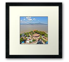 ©MS The View In Janitzio IA. Framed Print