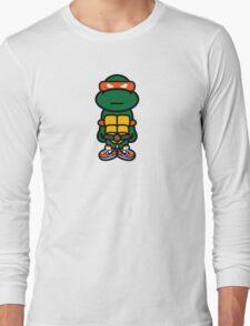 Orange Renaissance Turtle Long Sleeve T-Shirt