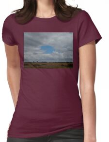 Pac-Man In The Sky Womens Fitted T-Shirt