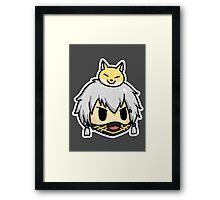 Nakigitsune touken ranbu chibi Framed Print