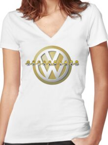 The Volkswagen Emoticon T-Shirt Women's Fitted V-Neck T-Shirt